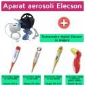 Aparat aerosoli cu compresor Elecson (EL116) + Termometru digital Elecson