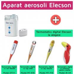 Aparat aerosol cu ultrasunete (EL009) + Termometru digital elecson