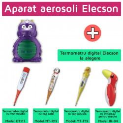 Nebulizator - Aparat aerosol Dino Nebulizer System (EL007) + Termometru digital elecson