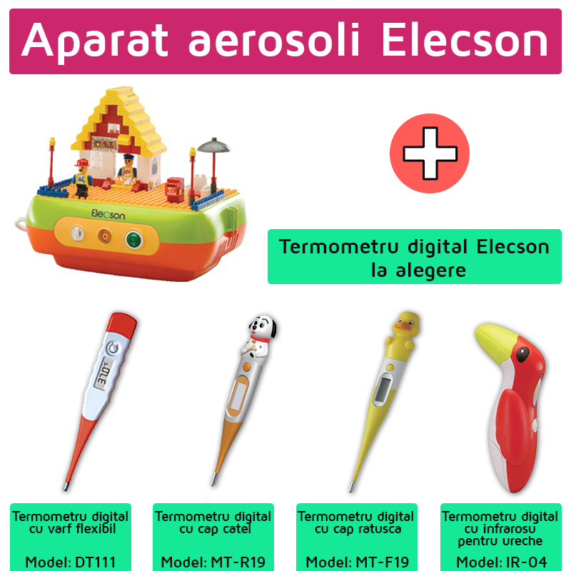 Aparat aerosoli Bricks (EL005) + Termometru digital Elecson