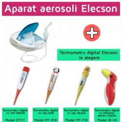 Aparat aerosol cu compresor Elecson (EL003) + Termometru digital elecson