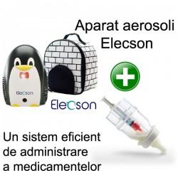 Nebulizator - Aparat aerosol Pingo Nebulizer System (EL006) + Sticluta un sistem eficient de administrare a medicamentelor