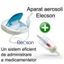 Aparat aerosol cu compresor Elecson (EL003) + Medibottle - sistem de administrare al medicamentelor pentru bebelusi