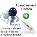 Aparat aerosoli cu compresor Elecson (EL116) + Medibottle pentru bebelusi