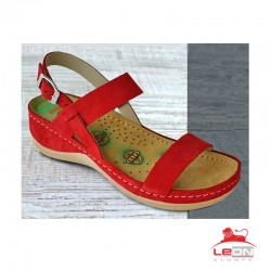 Sandale ortopedice dama din piele naturala Leon 921