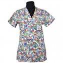 Lotus - Bluza medicala imprimata, editie speciala de Craciun