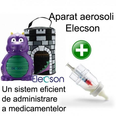 Nebulizator - Aparat aerosol Dino Nebulizer System (EL007) + Sticluta un sistem eficient de administrare a medicamentelor